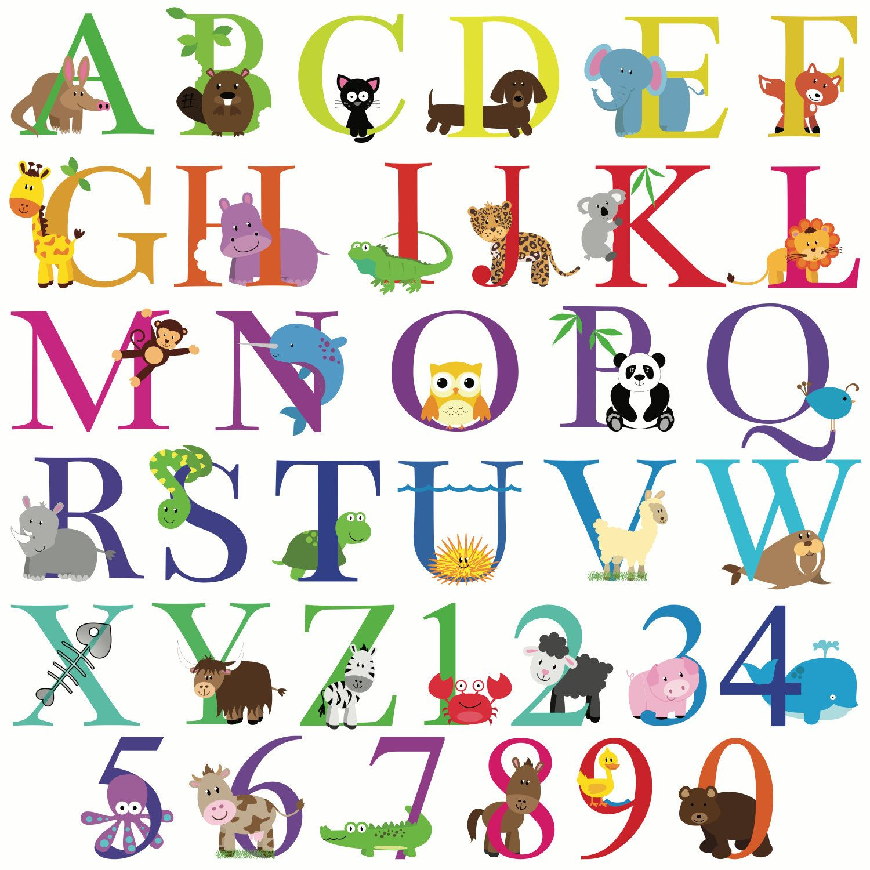 Happy Birthday Banner Abc Alphabet Animals By Bloomingevents