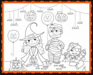 Halloween Coloring Costume Party Worksheet For Kids Halloween Coloring Sheets Halloween Coloring Pages Halloween Worksheets