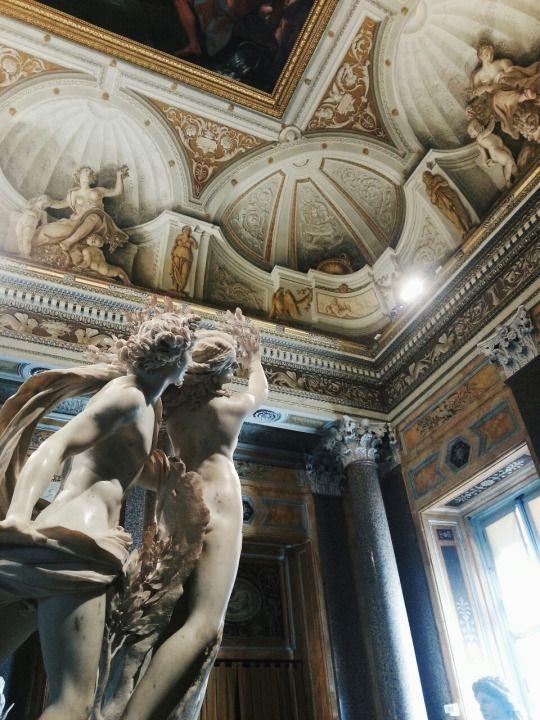 """""""Apollo e Dafne"""" in Galleria Borghese, Rome, Italy."""