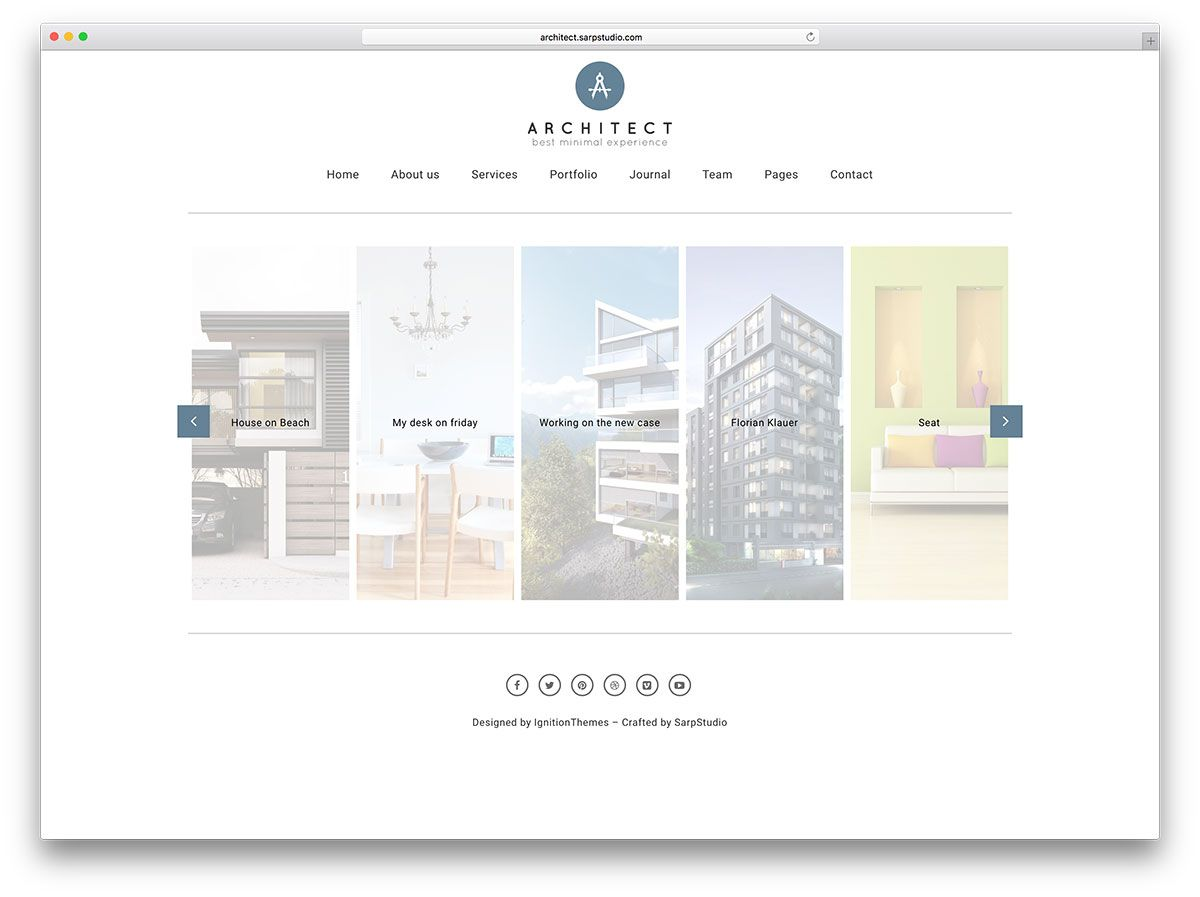 60+ Best WordPress Portfolio Themes 2020 Architecture