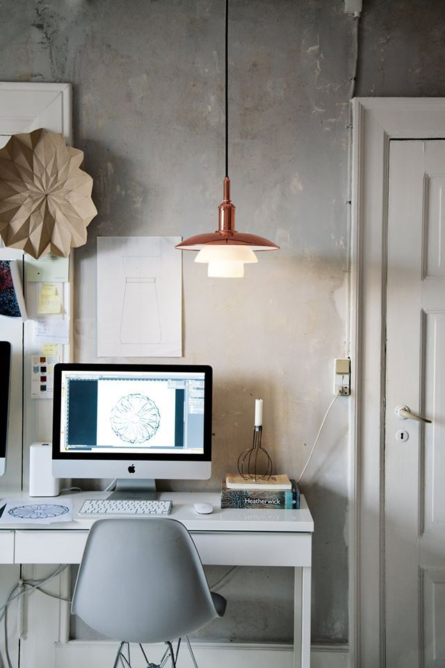 Scandinavian designer office // clean // raw // rustic