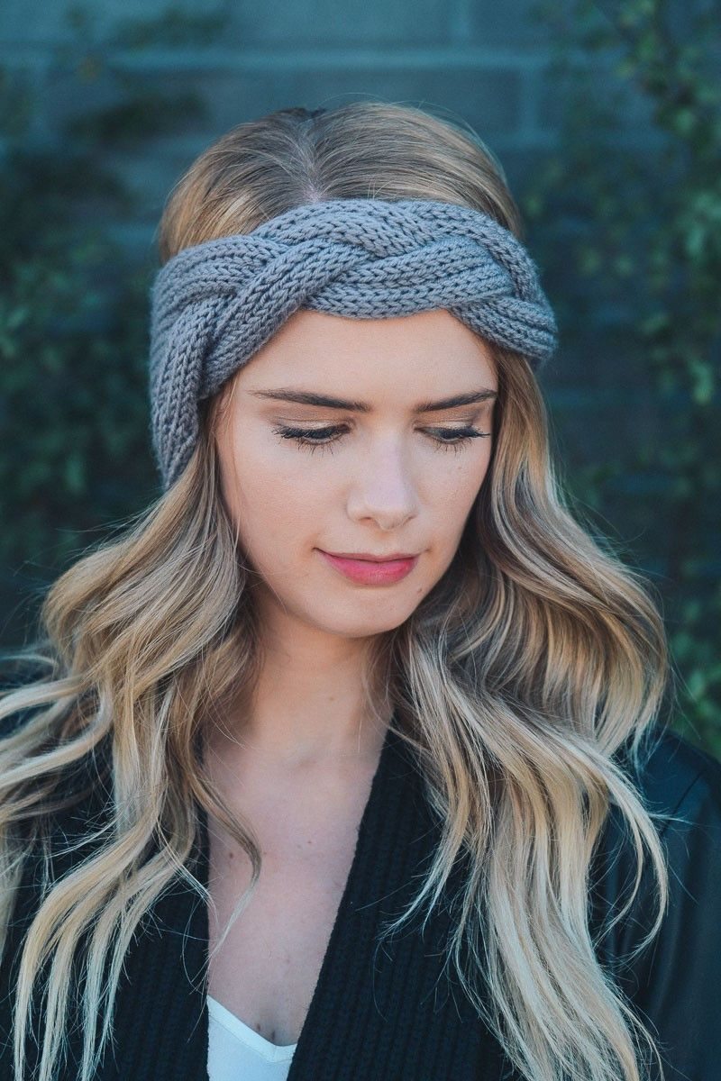 Braid Front Knit Crochet Headband | Crochet Cuteness❤ | Pinterest