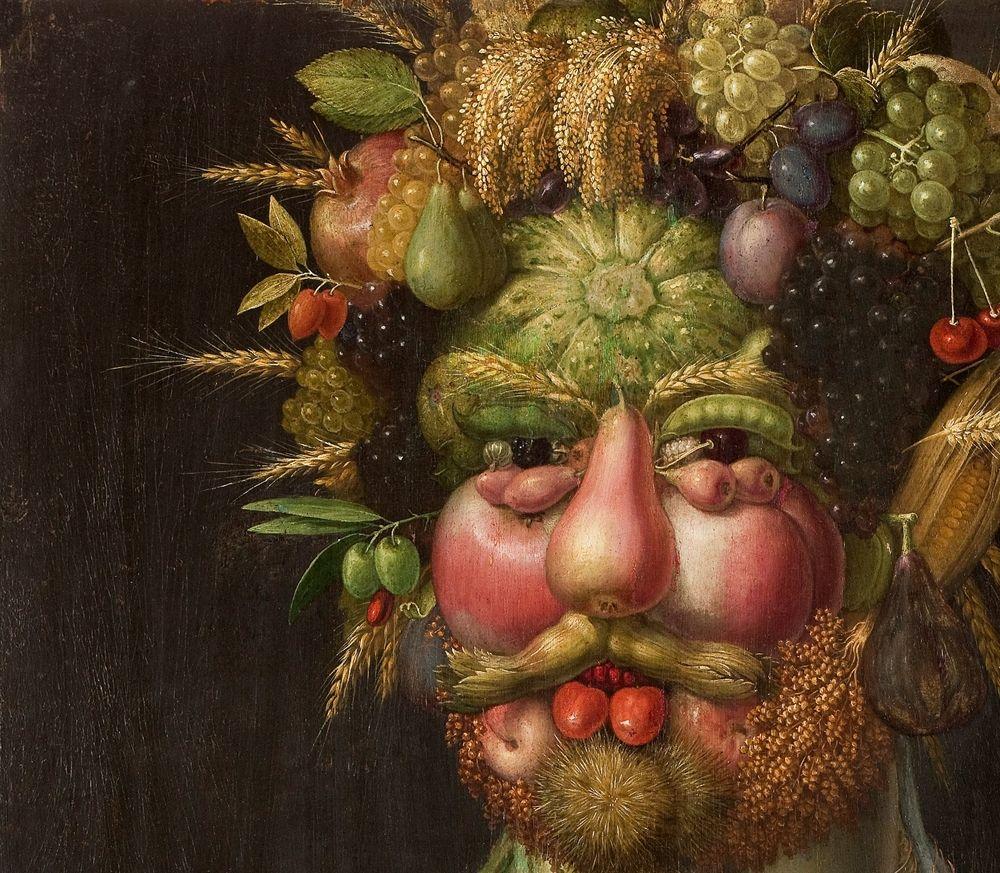 картинки из фруктов лицо машины буквой