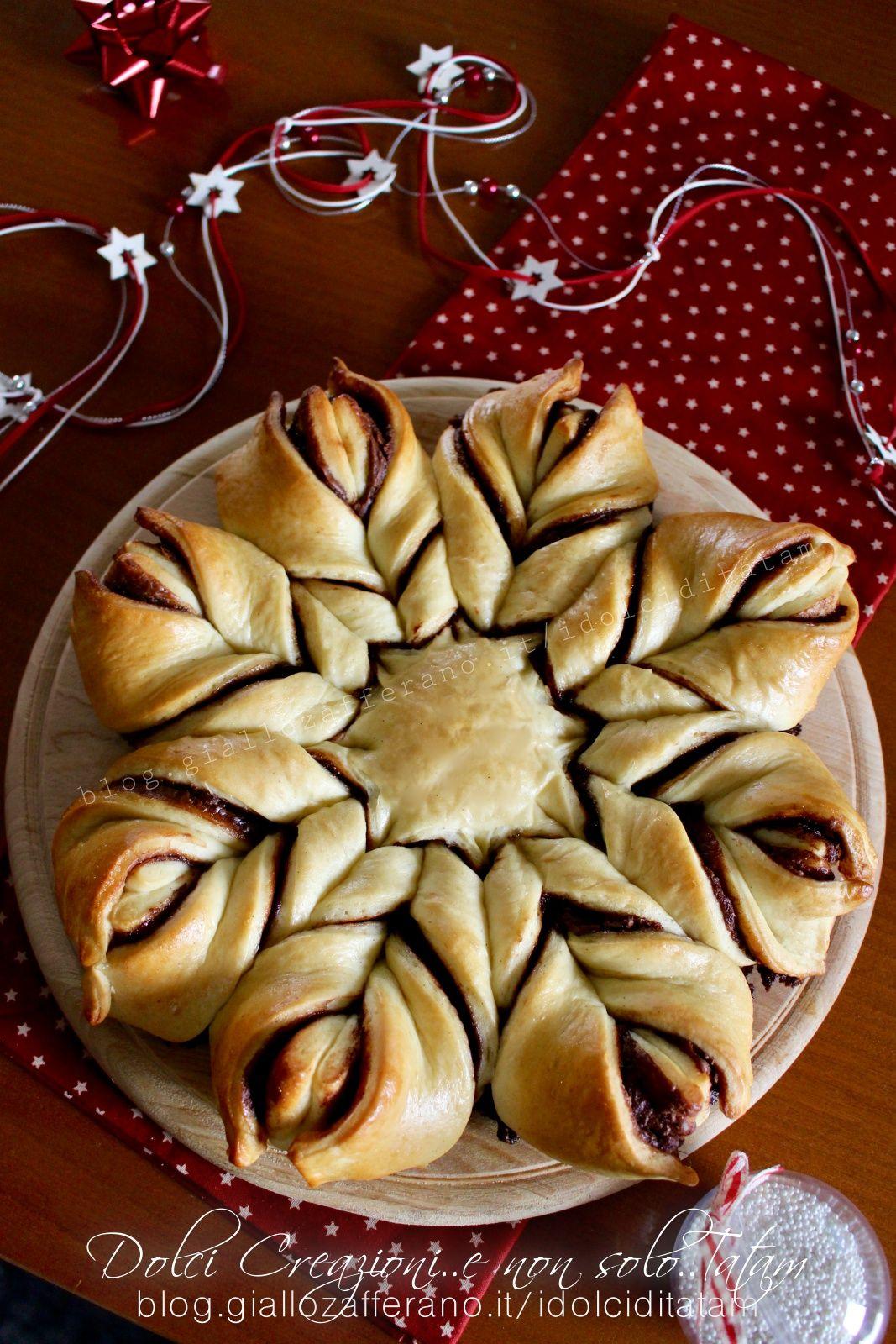 Stelle Di Natale Dolci.Torta Stella Di Pan Brioche Alla Nutella Per Le Feste