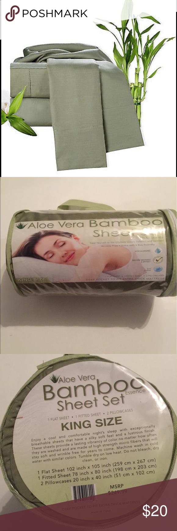 Aloe Vera Bamboo Sheet Set King Size Boutique My Posh Closet