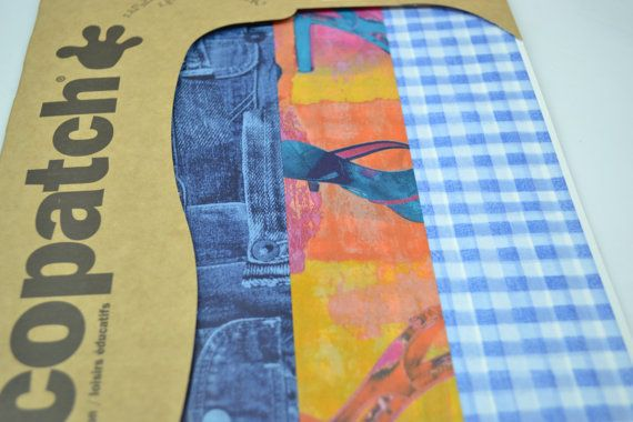 3pk Decopatch Tissue Paper - Assorted Pack - Jeans, Shoes, Plaid #105 3 sheets of decoupage/paper mache/collage paper.