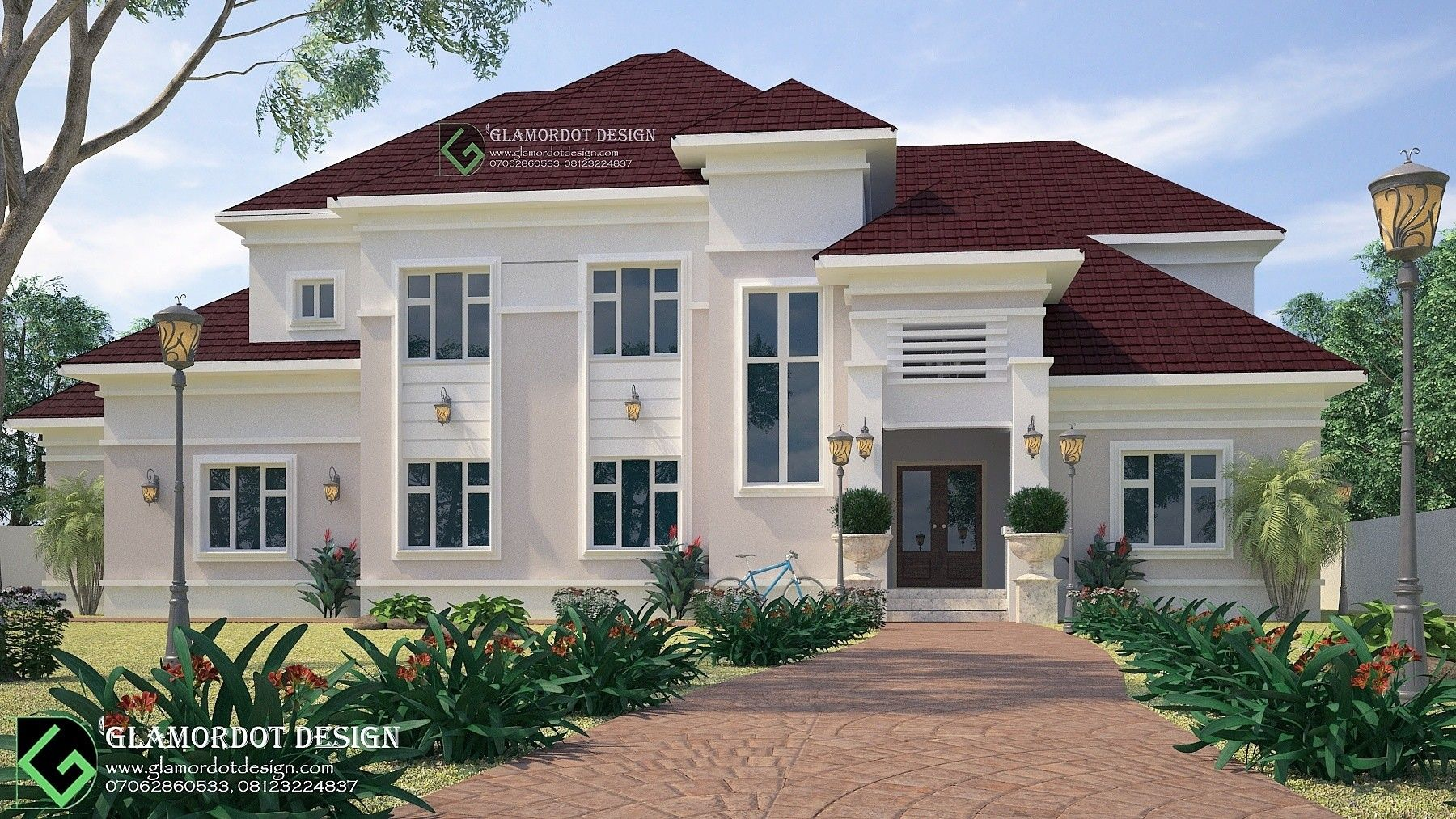 8 bedroom bungalow Mansion with a penthouse Country home