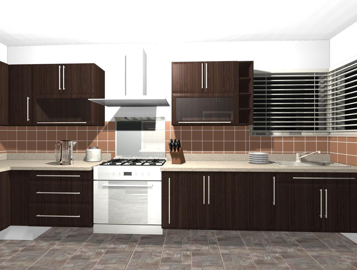 Render para cocina contemporanea.2 | Fábrica de COCINAS & CLOSETS ...