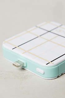 Anthropologie - Graphic Plaid iPhone Backup Battery