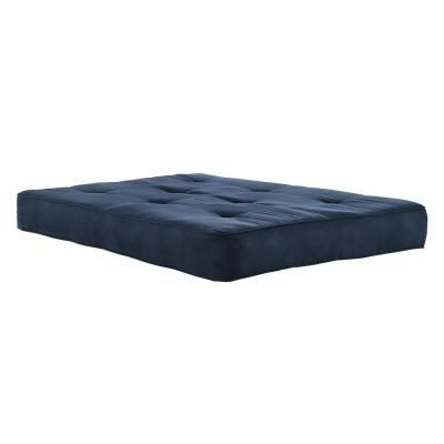 Dhp Classic 8 In Independently Encased Coil Futon Mattress With Certipur Us Certified Foam In Navy Futon Mattress Full Futon Mattress Mattress