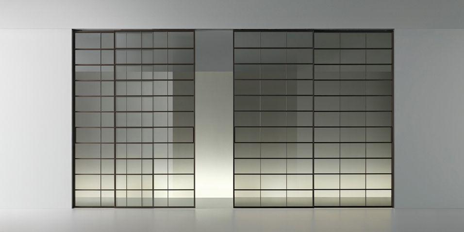 Struttura alluminio brown e vetro riflettente chiaro porta scorrevole vetro pinterest - Pellicola riflettente per finestre ...