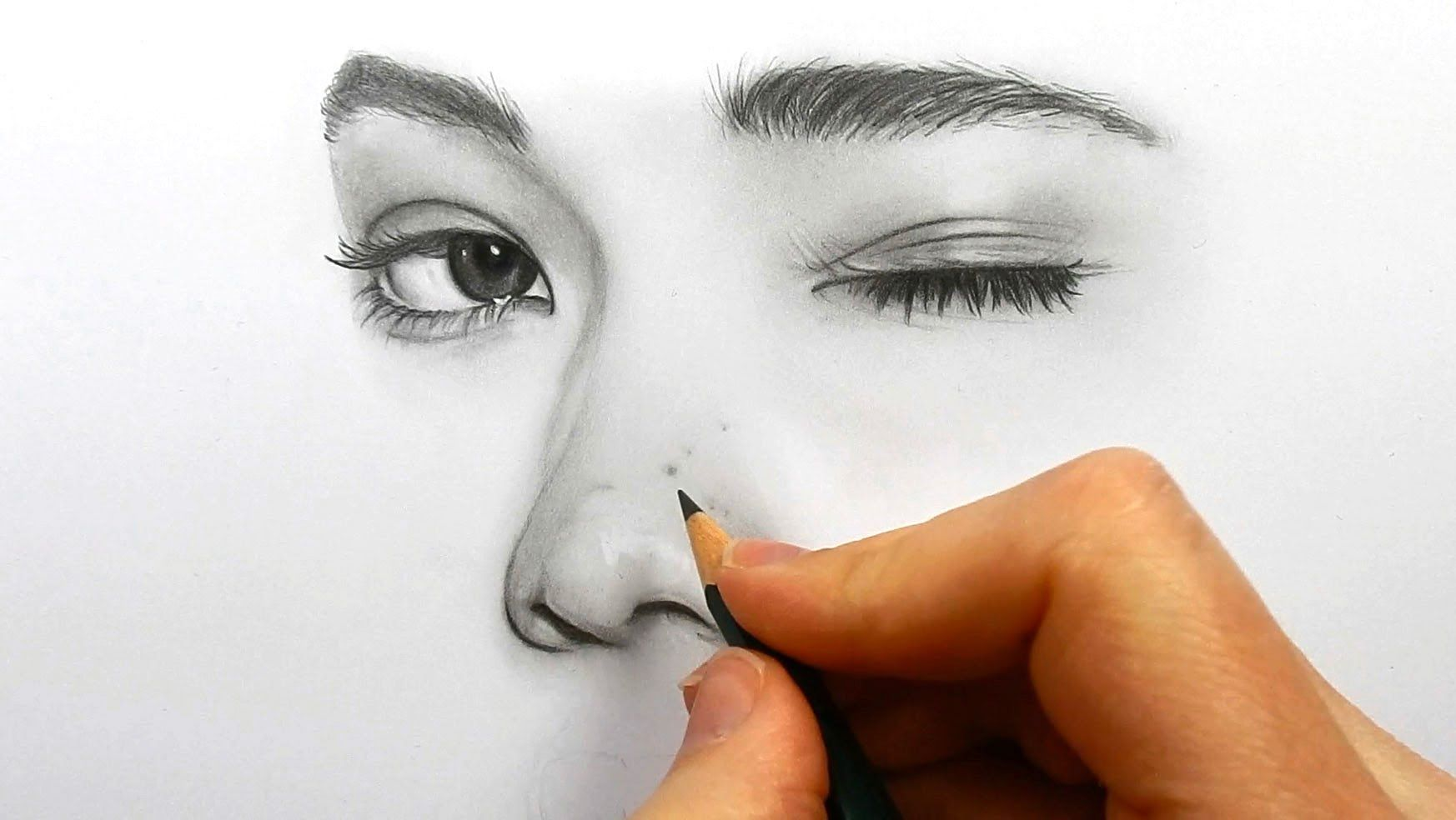 Drawing Shading And Blending A Face With Faber Castell