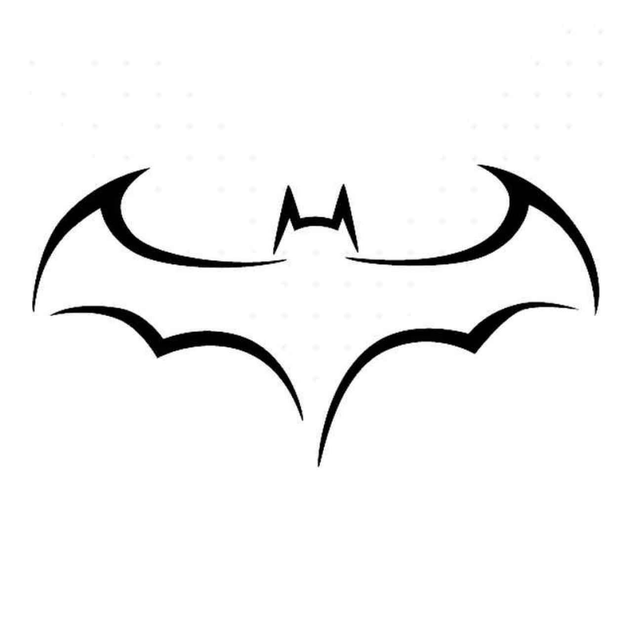 07594b75e How to Draw Batman Logo - Tribal Tattoo Design Style - YouTube   Tattoos in  2019   Beginner tattoos, Batman drawing, Tattoo design drawings