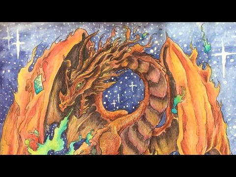 MYTHOMORPHIA By Kerby Rosanes Derwent Inktense Pencils Color Along