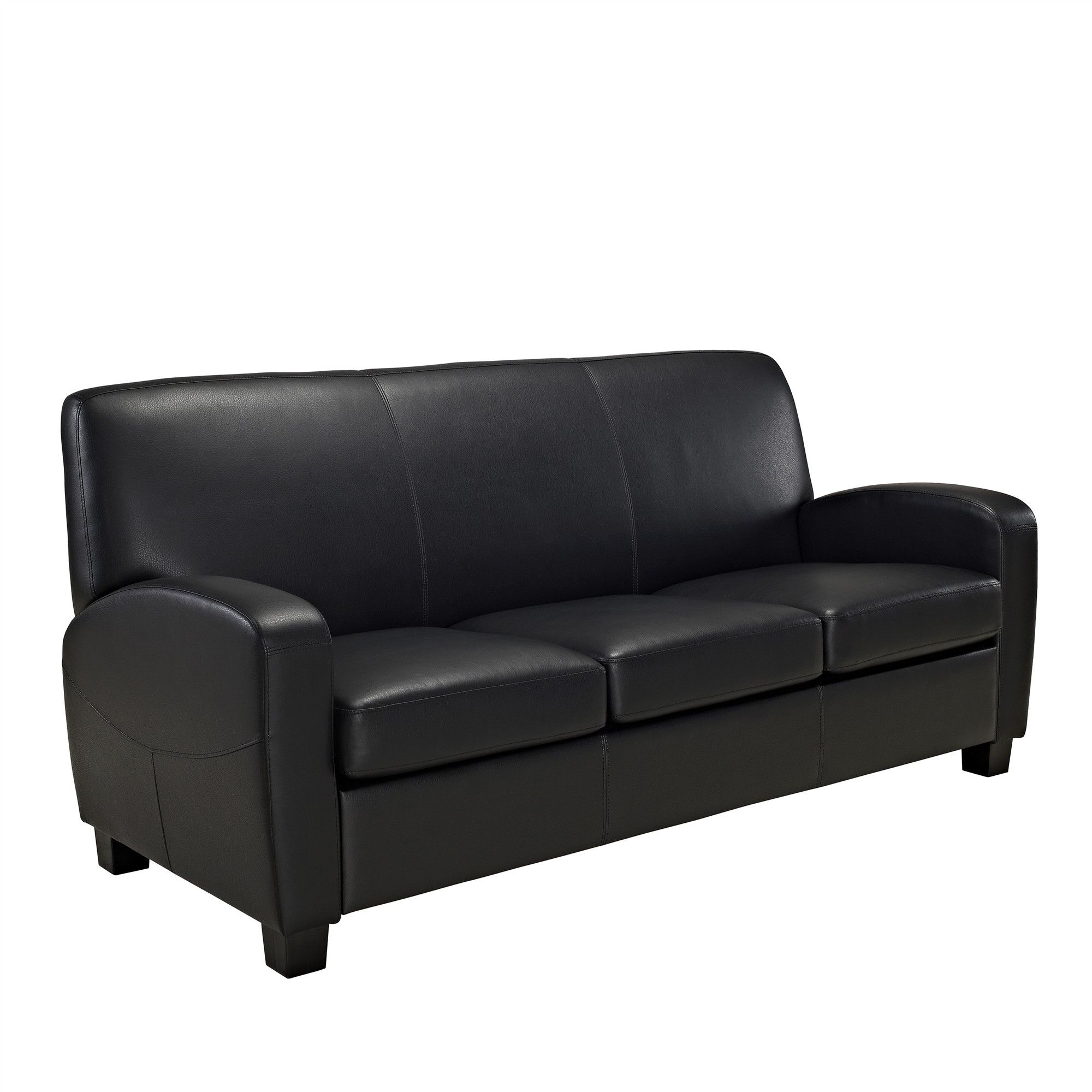Dallas Faux Leather Sofa Black - Dorel Living in 2019 ...