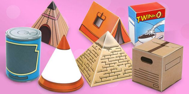 Real Life Object 3D Shapes Pack 3d, shapes, pack, real