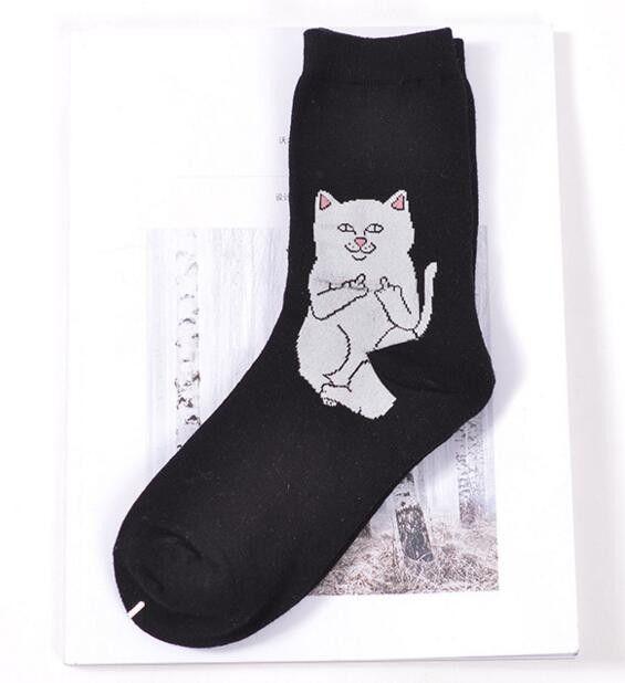 6572aa8cc1cb RIPNDIP Lord Nermal Cat Novelty Socks Cotton Harajuku Cats Funny Socks Hip  Hop Men Sokken 008w