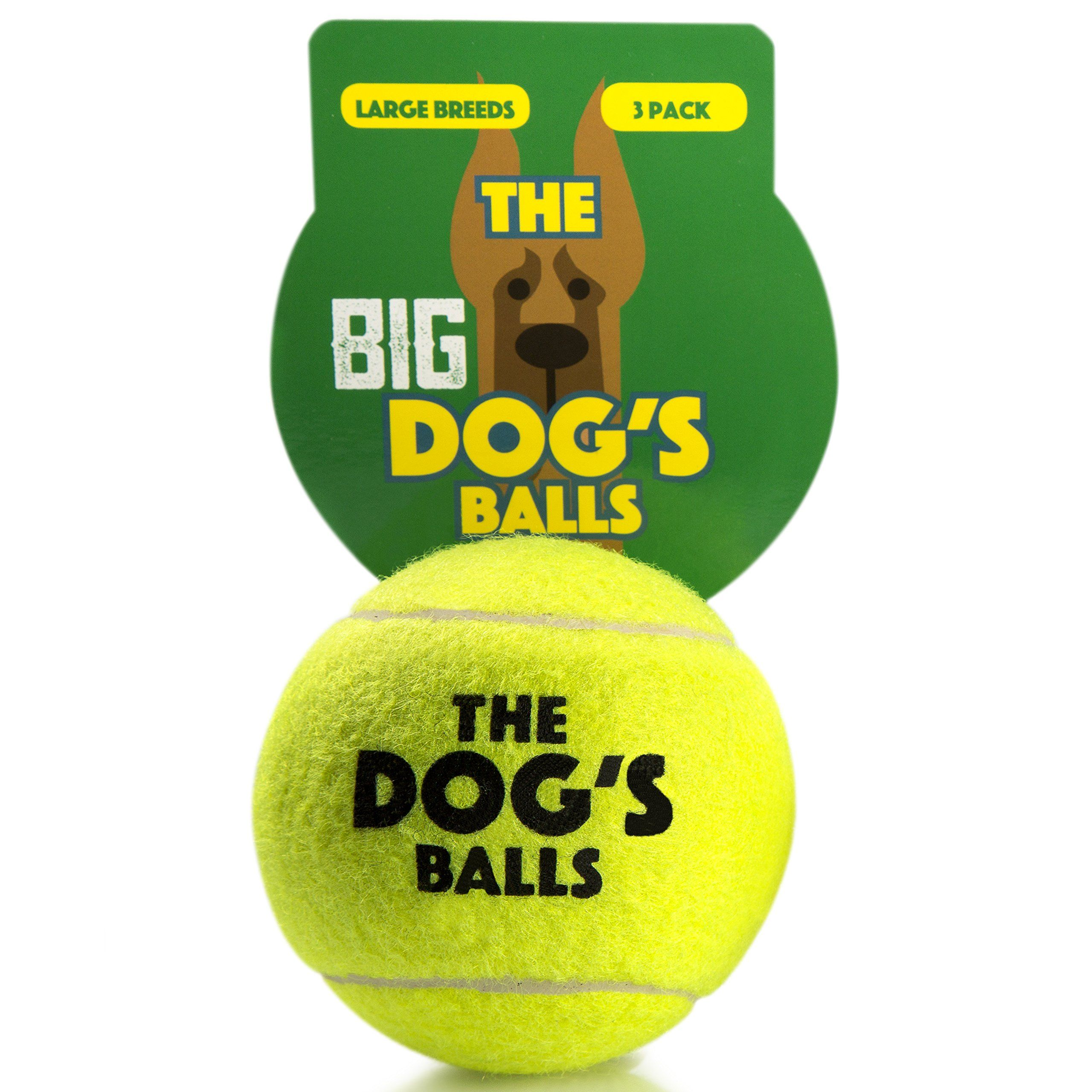 The Dogs Balls 3 Large Yellow Tennis Balls Premium Strong Dog Toy Ball For Dog Fetch And Play Large Dogs Balls Too Big Fo Dog Toy Ball Strong Dog Toys Dog Ball