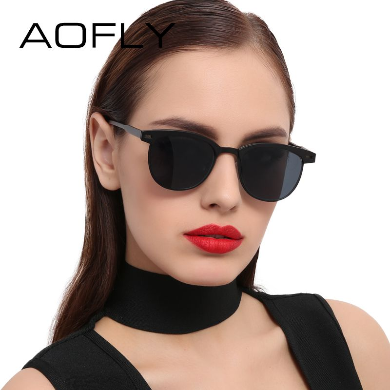 AOFLY Fashion Lady Sunglasses Metal Half Frame Sun glasses for Women Brand  Designer Vintage Square Mirror Shades UV400 Gafas   Price   18.62   FREE  Shipping ... 5c9e7934d9