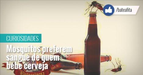 Matéria do dia 15/04/15: Mosquitos preferem sangue de quem bebe cerveja http://goo.gl/51j96n