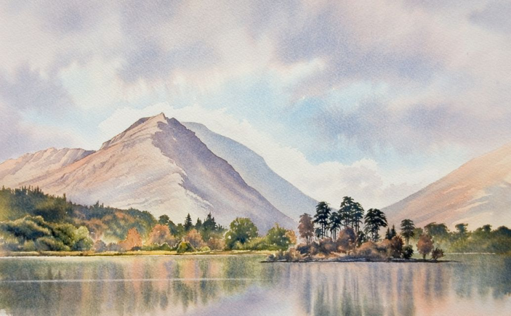 Store Buy Watercolour Paintings Of The Lake District By Artist Chris Hull Landscape Paintings Watercolor Landscape Watercolor Mountains
