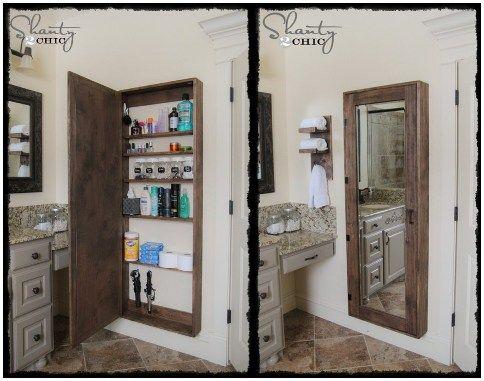 How To Make A Bathroom Mirror Storage Cabinet Badezimmer
