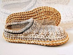 Crochet slippers pattern men loafers with rope por magic4kids