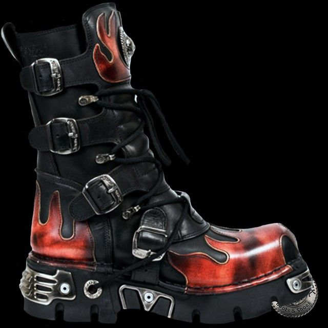 New Rock Bottes Unisexe Style 591 S1 rouge