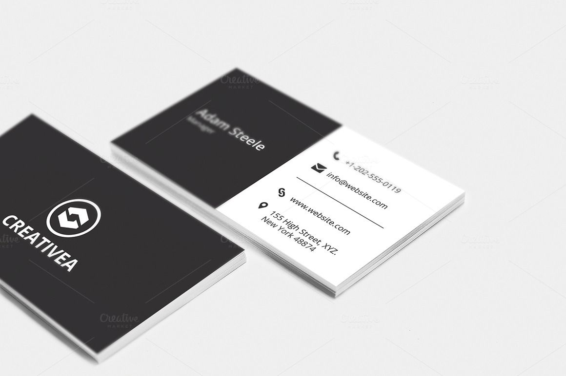 Minimal Business Card Template With Images Modern Business