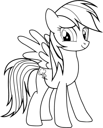 Coloriage My Little Pony Rainbow Dash : coloriage, little, rainbow, Little