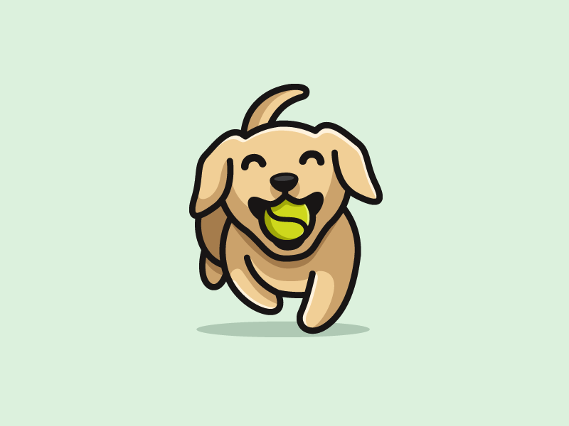 Dog Tennis Ball Cute Dog Drawing Pet Logo Design Dog Drawing