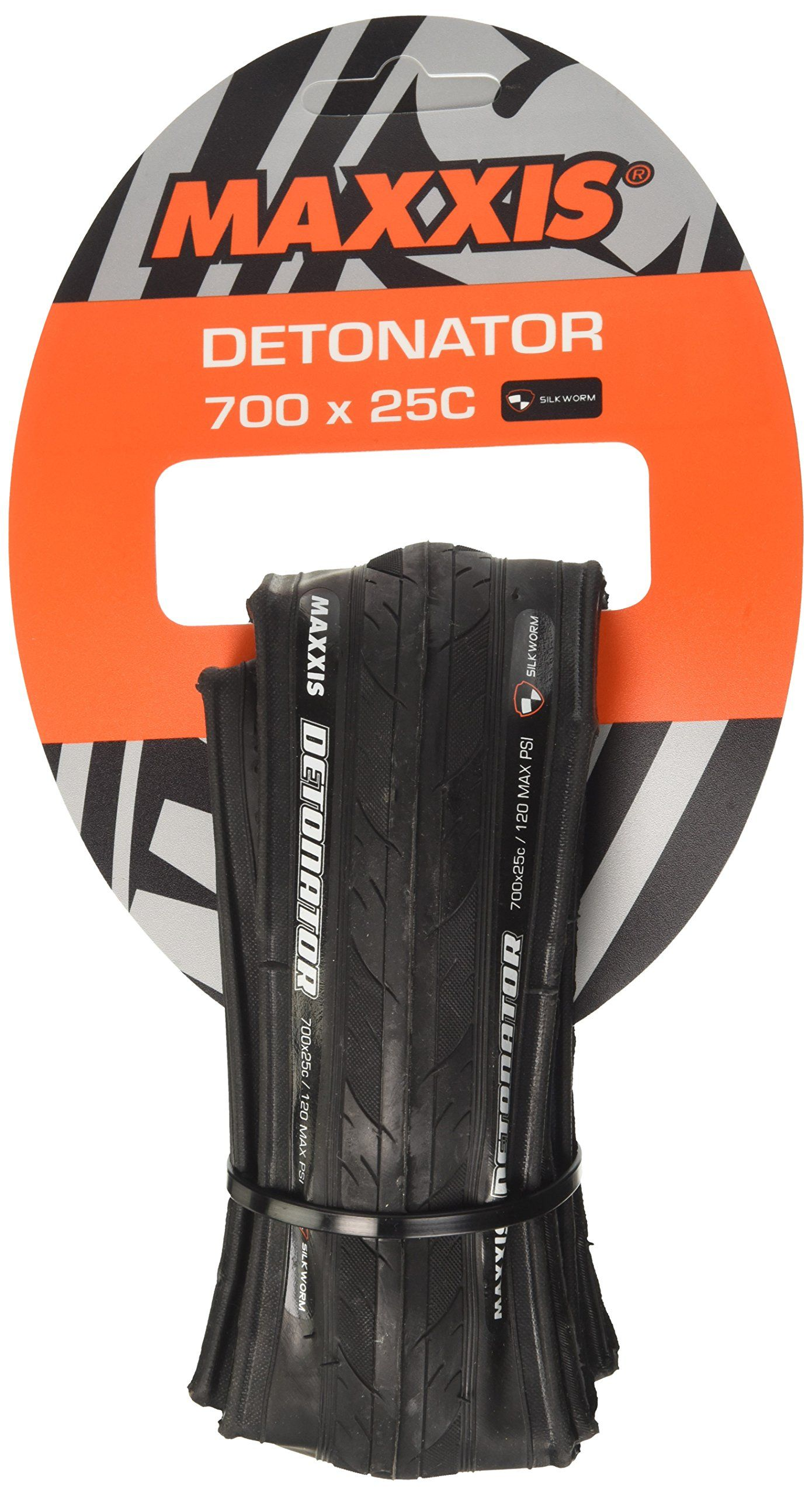 Maxxis Detonator M203 Road Bike Training Tire 700x25c Black 28