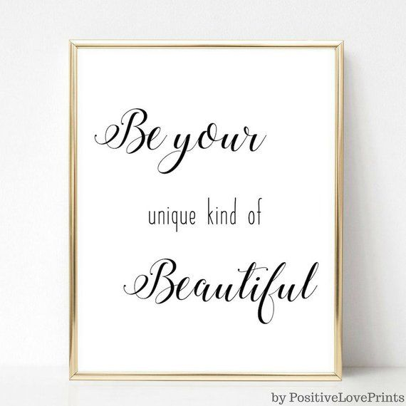 Your Own Kind Beautiful Motivational Inspirational Quote Poster Print Wall Art