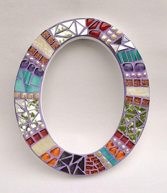 Perfecto marco para espejo en o proyectos mosaicos for Mosaicos para espejos