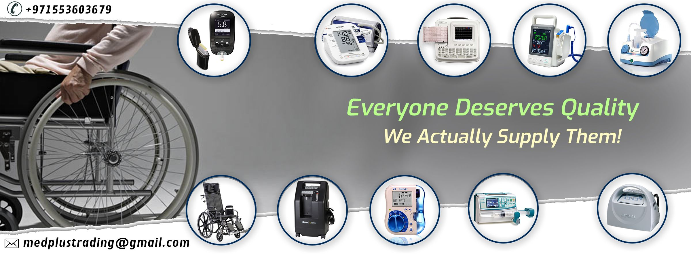 We offer the largest variety of medical supplies equipment