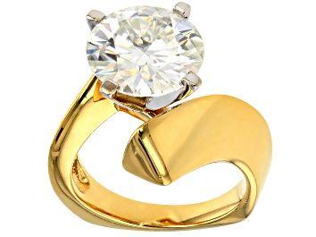 White Diamond 10k Yellow Gold Ring 2.56ctw - HGD097 | JTV.com