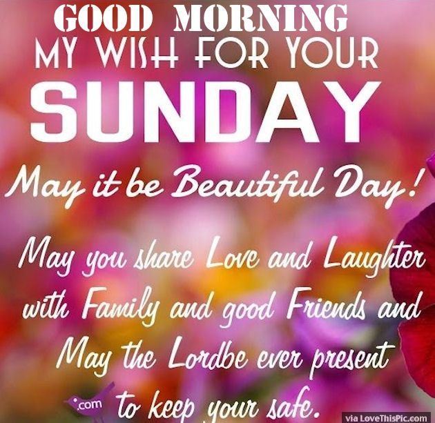Good Morning And Happy Sunday Quotes : Good morning my wish for your sunday