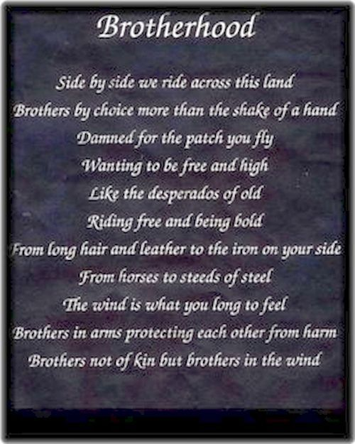 Brotherhood Quotes: Biker Brother Quotes