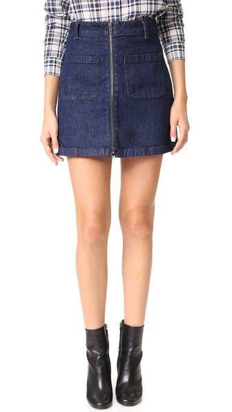 Madewell Denim Zip Miniskirt | SHOPBOP