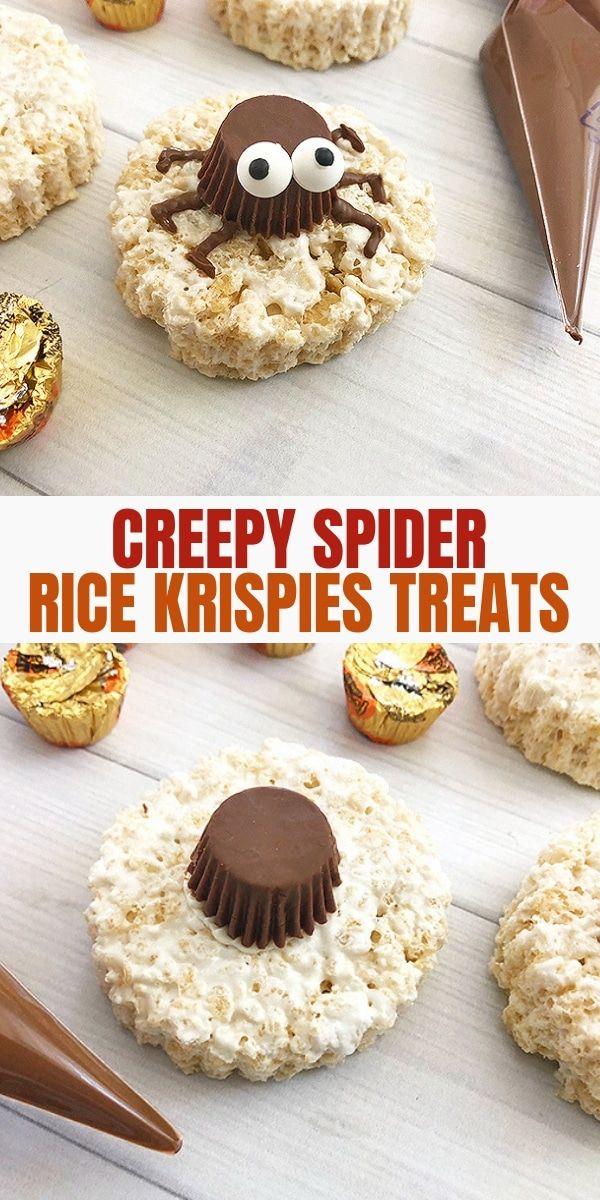 spooky spider rice krispies treats recipe halloween pinterest rice krispies treats party treats and rice krispies
