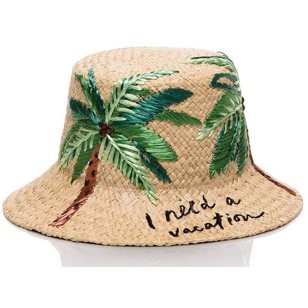 03710aed6ba9c Kate Spade I Need A Vacation Cloche Hat (€115) ❤ liked on Polyvore  featuring accessories