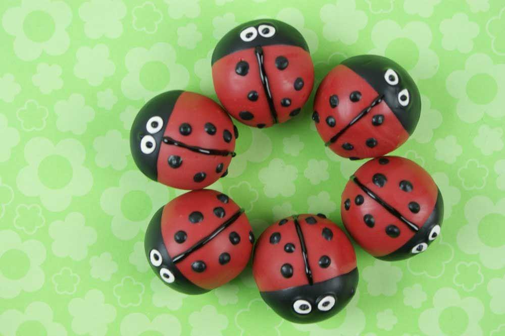 LadyBug Cake Bites