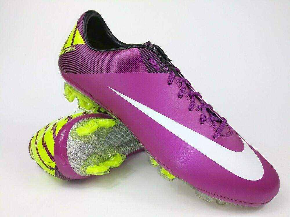 Details About Nike Mens Rare Mercurial Vapor Vii Fg 441976 547 Purple Cleats Boots Size 10 5 Nike Men Cleats Kids Soccer Cleats