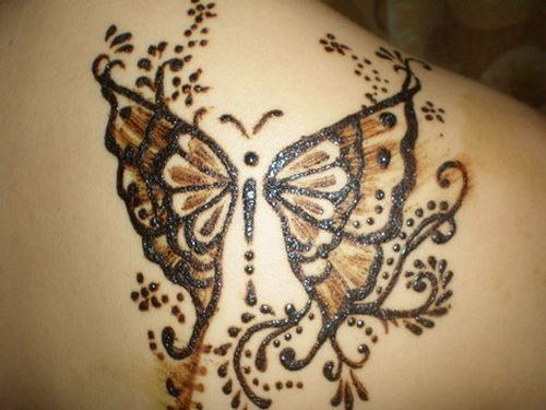 Mehndi Henna Butterfly : Butterfly black henna tattoo designs this would be a beautiful