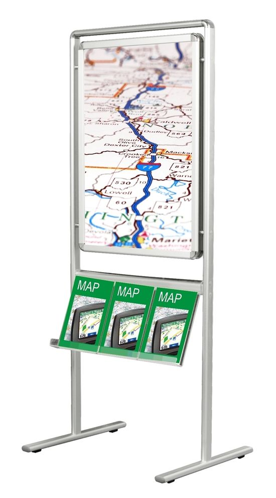 Stand Alone poster Board - This free standing aluminum poster board ...