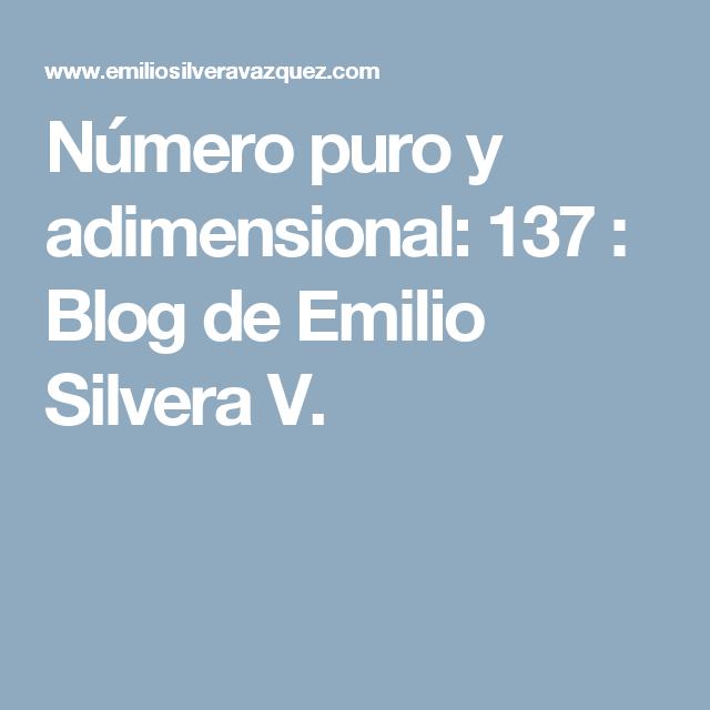 Resultado de imagen de 137 el número puro adimensional
