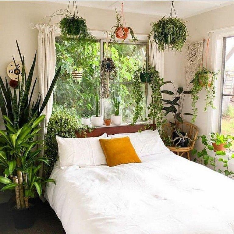 43 Amazing Bohemian Bedroom Decor Ideas With Plants Bedroom Bedroomdecor Bedroomdesign Bedroomideas Green Bedroom Design Bedroom Green Bedroom Decor