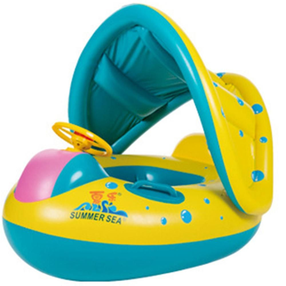 Activity & Gear Accessories Just Inflatable Ring Double Person Swimming Rings Mother Child Swimming Circle Newborns Bathing Circles Inflating Wheels Summer Toys