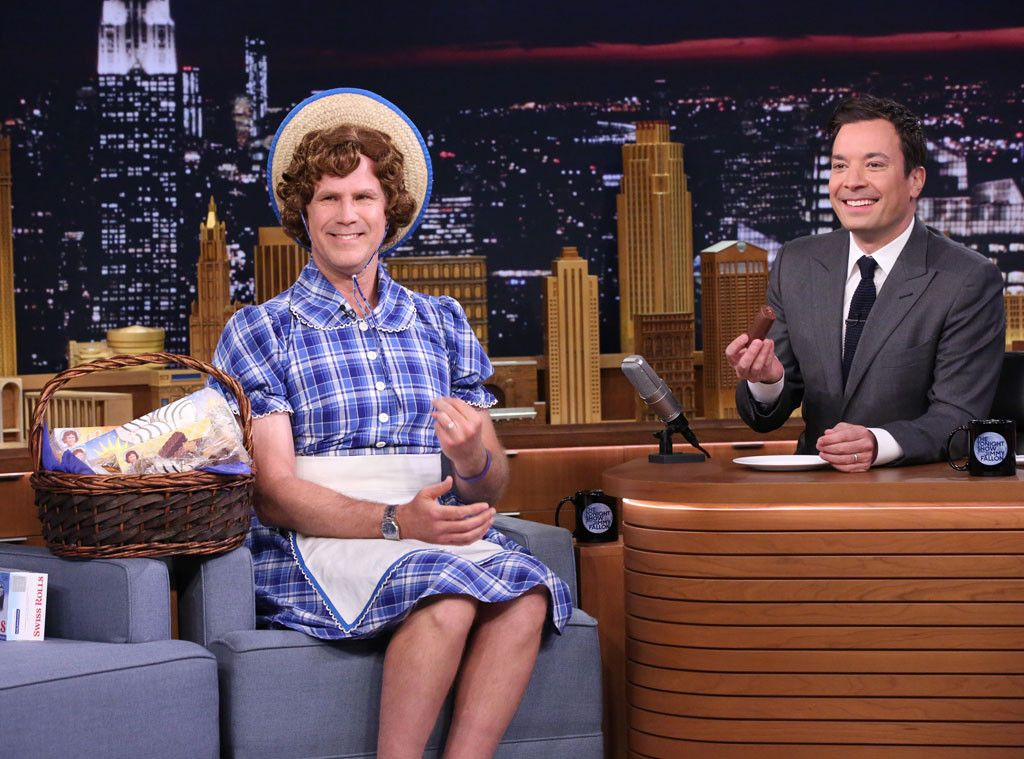 Will Ferrell Little Debbie Halloween Costume 2020 Will Ferrell Dresses as Little Debbie, Cracks Up Jimmy Fallon