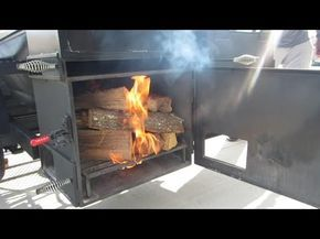 24''x48'' Offset Pipe Smoker | Lone Star Grillz - YouTube